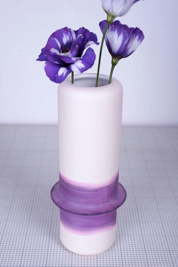 vase hours céramique design dégradé faïence designer rennes modèle unique